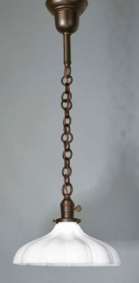 Pendant fixture , in a different finish and shade, also from Old California Lantern's 'Hollistan' series.