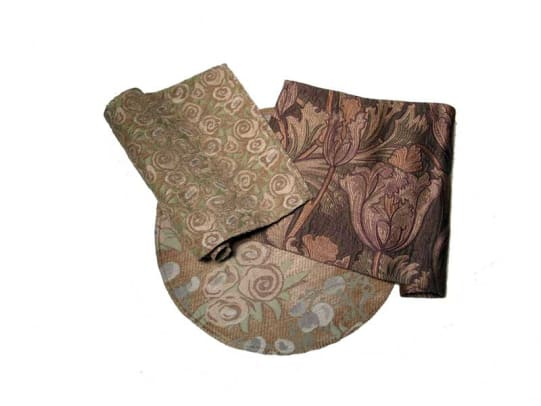 Art Nouveau upholstery fabrics come from Archive Edition Textiles.
