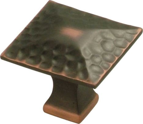 "A variation on the 1"" cabinet knob: a  pyramidal square from Hickory Hardware's Craftsman Collection."
