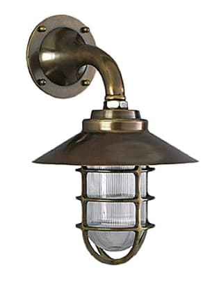 Industrial-strength caged light from Roy Electric can be mounted up or down.