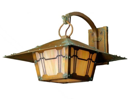 Based on the work of Greene & Greene, the large Gamble bracket light is part of the new Wentworth Avenue brand.