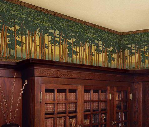 Lands End wallpaper frieze from Bradbury & Bradbury.