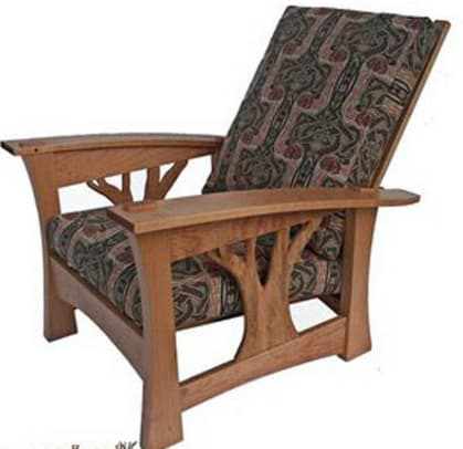 Brian Brace's 'Arbor' recliner in cherry.