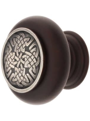 Celtic Isle cabinet knob from Notting Hill Decorative Hardware.