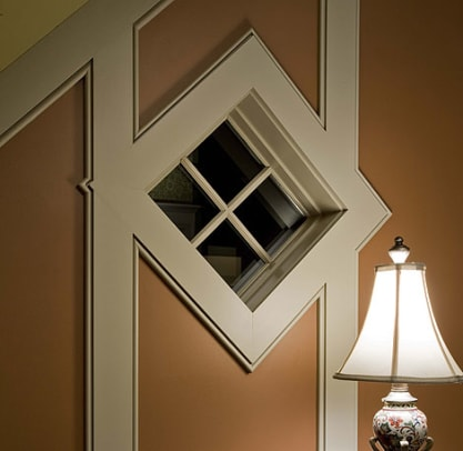 This fine window trim detail is in a new house in Iowa, built by Hoien Construction. Photo by Paul Crosby