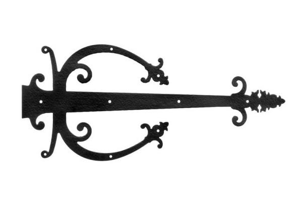 Warwick banjo iron dummy strap hinge, House of Antique Hardware.