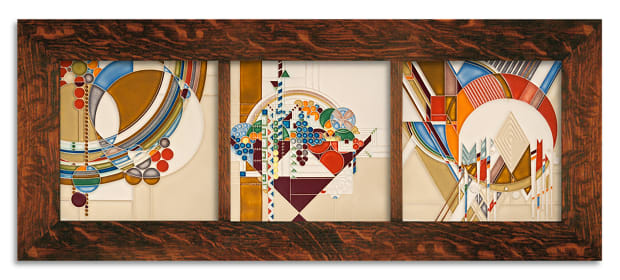 Motawi Frank Lloyd Wright Framed Tile Set