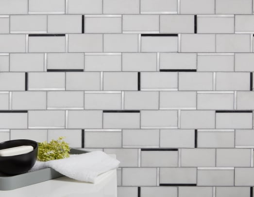 JEFFREY-COURT Abstract Mosaic in Nero Marquina