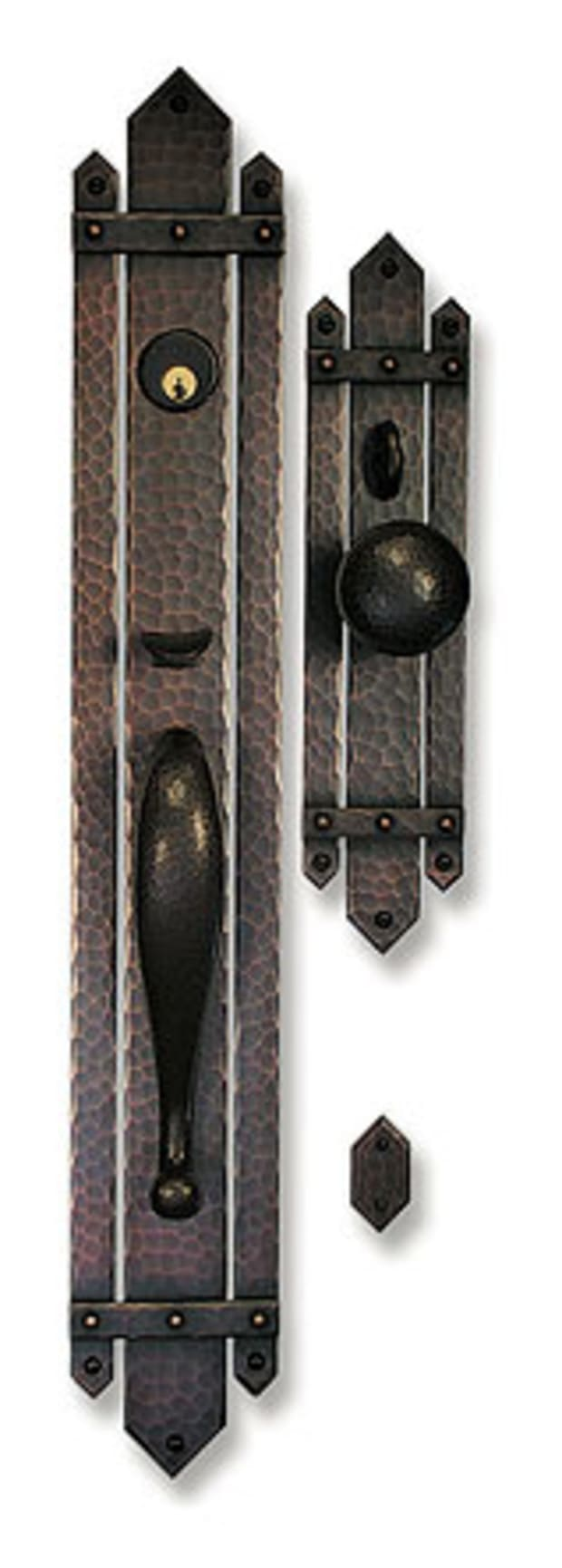 """12/"""" Gate or Door Pull Handle Solid Bronze Handmade Copper Canyon Foundry"""
