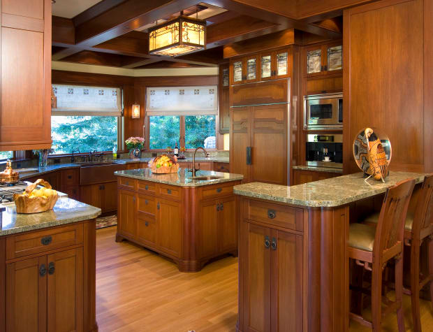 A Kitchen Inspired by Greene & Greene