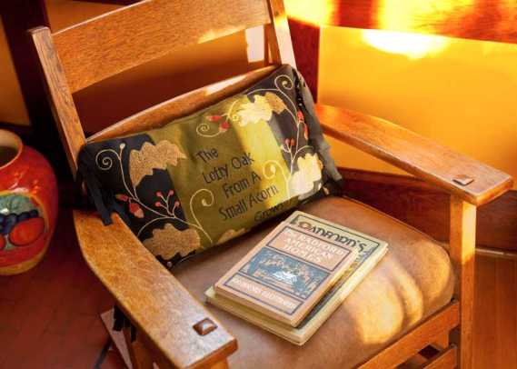 Vintage items are comfortable in the 1906 house.