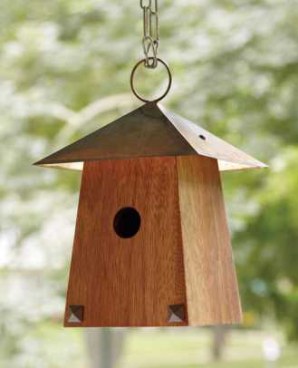FLW-inspired bird house by The Frank Lloyd Wright Preservation Trust.