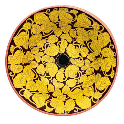 'Yellow Leaves' cloisonné vessel from Linkasink.