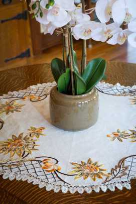 Textiles with Arts & Crafts embroidery are vintage.