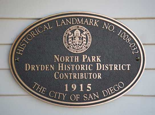 The North Park Dryden Historic District was officially established in 2011.