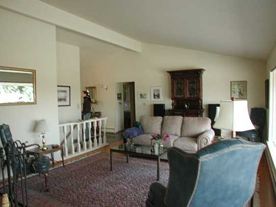 LIVING ROOM BEFORE: The interior was devoid of detail and personality.