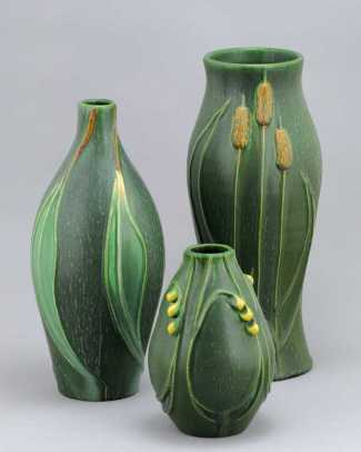 Nature-inspired vases from Door Pottery.