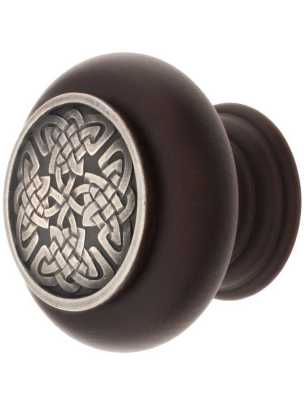Celtic Isle cabinet knob from Notting Hill Decorative Hardware.