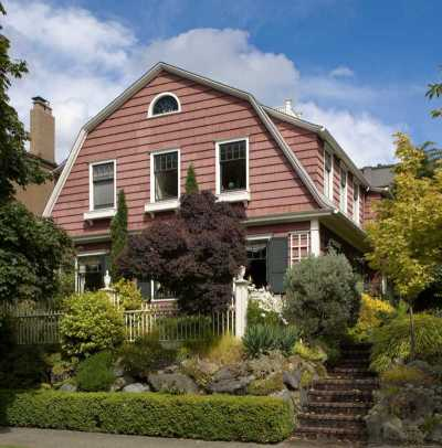 A Dutch Colonial house of 1914 not far from downtown. Photo: William Wright