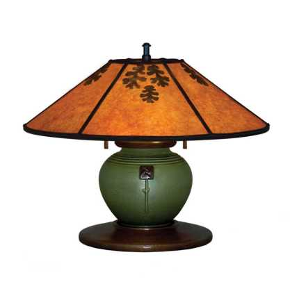 Ring of Roses desk lamp with an Ephraim pot base.