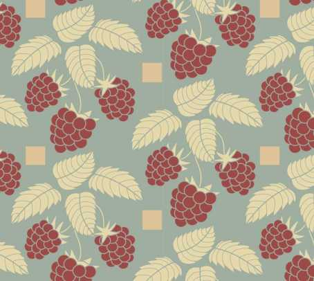 Raspberry is one of Cindy's newest botanical designs.