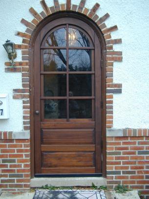 coppa woodworking round top door