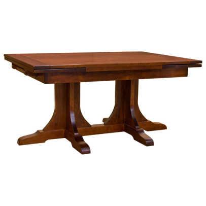 Barn Furniture Mart Mission Double Pedastool Table ...