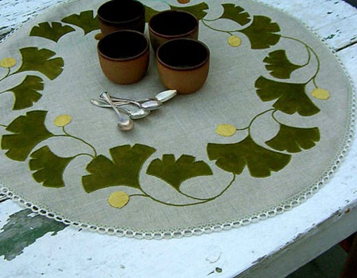 Ginkgo Table Round from Ann Wallace & Friends.