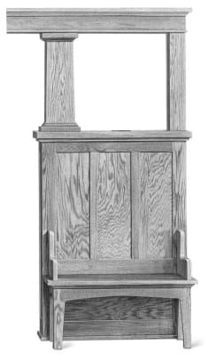 Versatile colonnades are room dividers, open at the top, which can accommodate cabinets or benches, even drawers. From the Curtis Woodwork catalog of 1917.