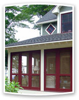 Traditional 3 Season Porch Panels transform the entire look of your home plus create a fully functional space to enjoy year round. Added space = added value to your home.