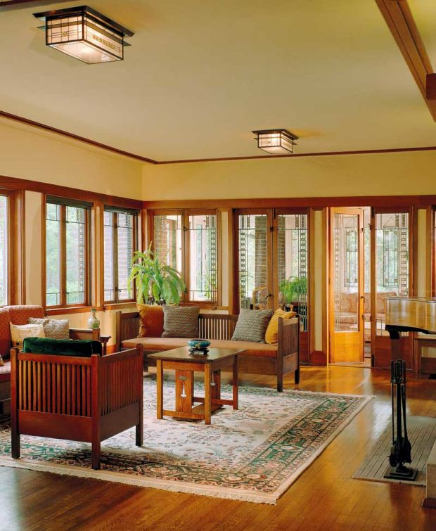 Bungalow windows arts crafts homes and the revival for Prairie style window