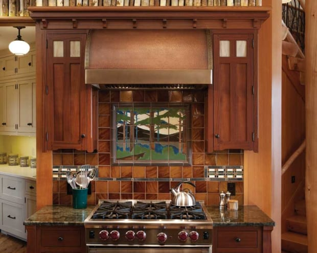 Two Arts & Crafts Kitchens: Bungalow Basic & Adirondack ...
