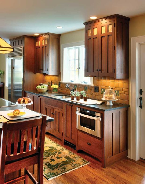 Perfect Kitchen for a Pottery Collector - Arts & Crafts ...