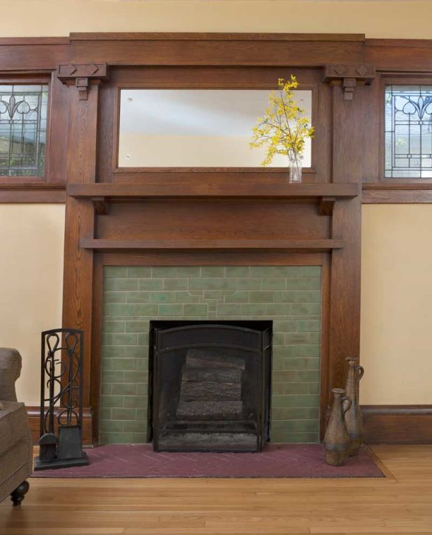 Tree Of Life Fireplace Surround: Design For The Arts & Crafts House