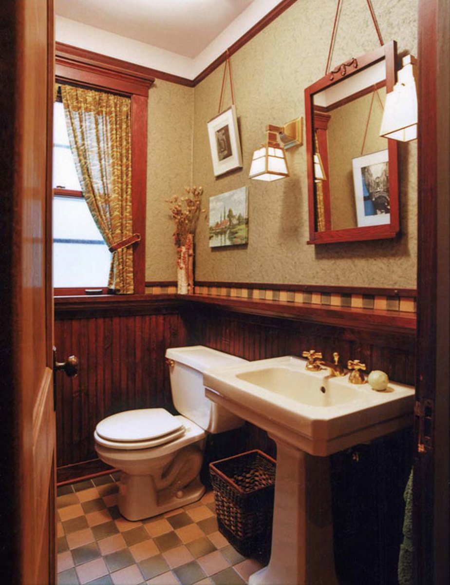 Arts crafts bathrooms with character arts crafts - Arts and crafts style bathroom design ...