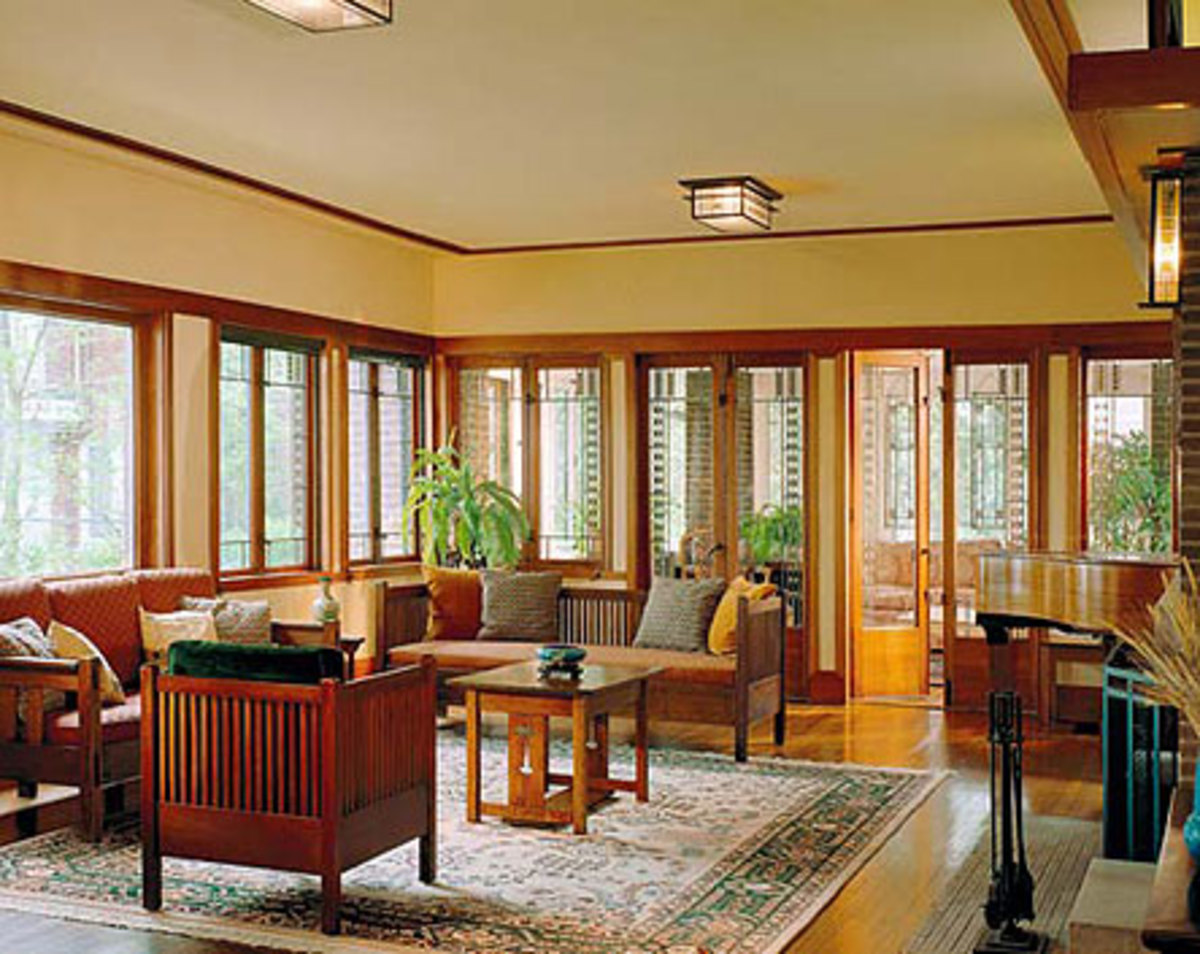 Woodwork finishes for the craftsman home arts crafts for Craftsman style rooms