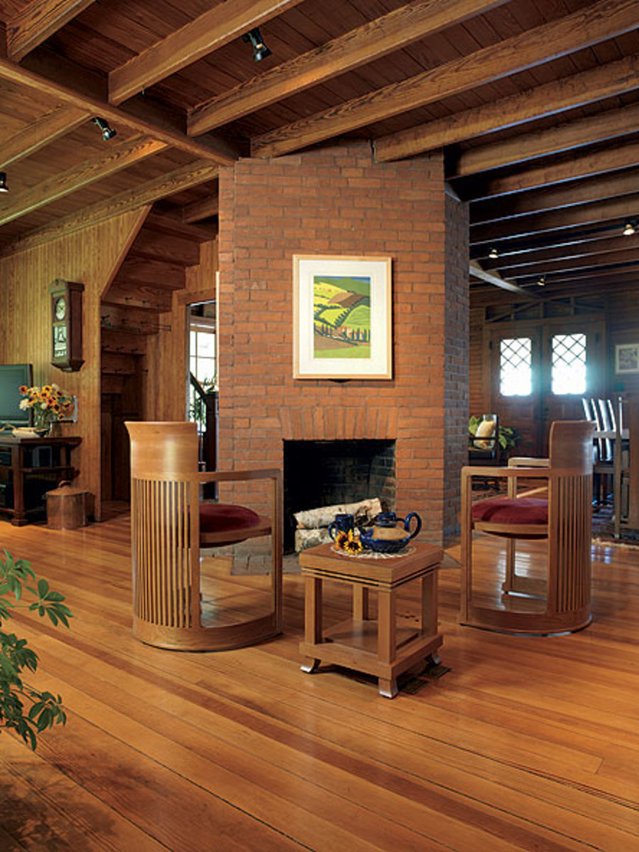 Wood flooring in lodge