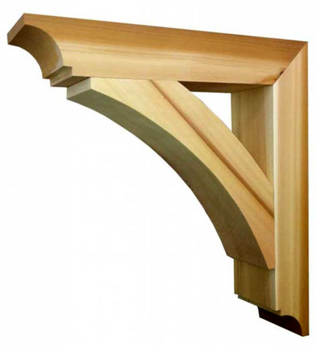 Exterior millwork sources arts crafts homes and the for Exterior house brackets
