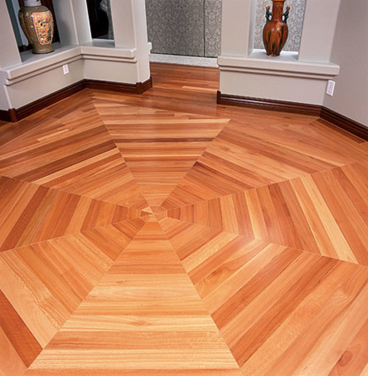 Lyptus is a recently popular species that lends itself to plank and strip floors as well as inlays.