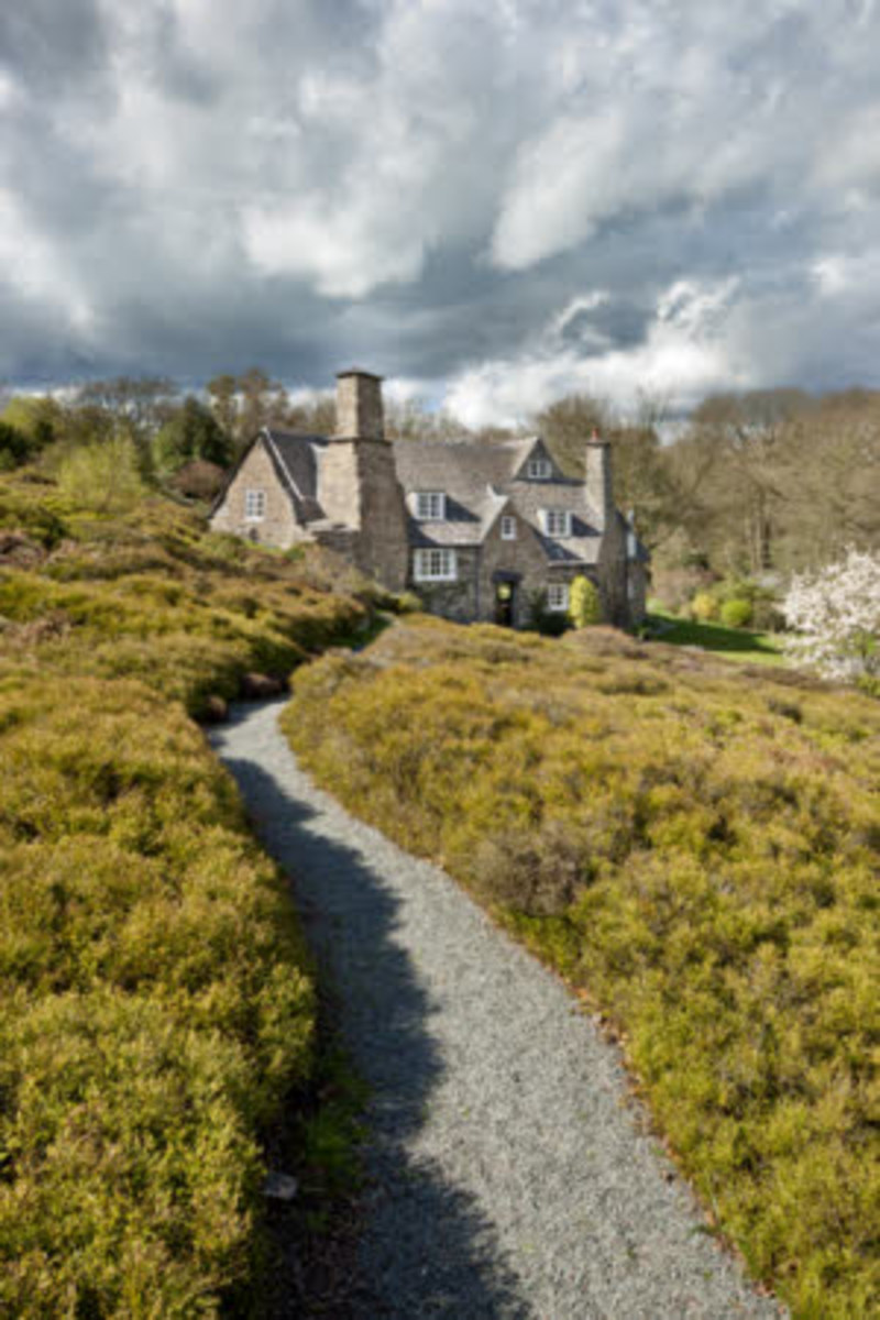Stoneywell was imagined by British Arts & Crafts designer Ernest Gimson. Built with local materials and labor, it is indigenous and spare. Photos courtesy National Trust