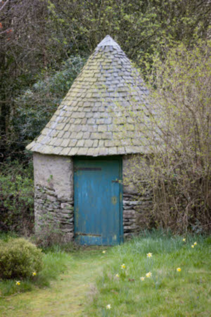 The Well House in the garden at Stoneywell, Leicestershire.