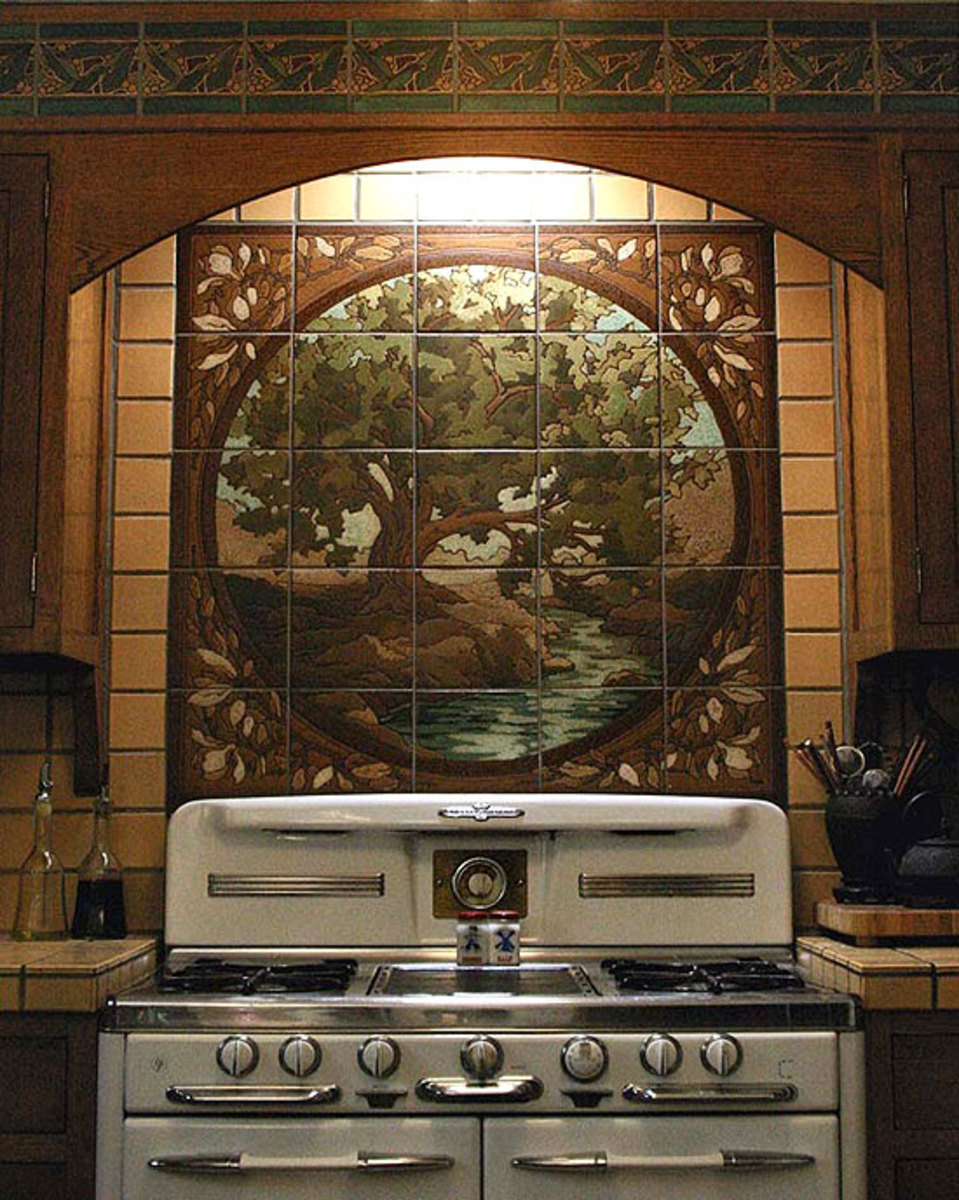Artful tile for kitchen amp bath arts amp crafts homes and