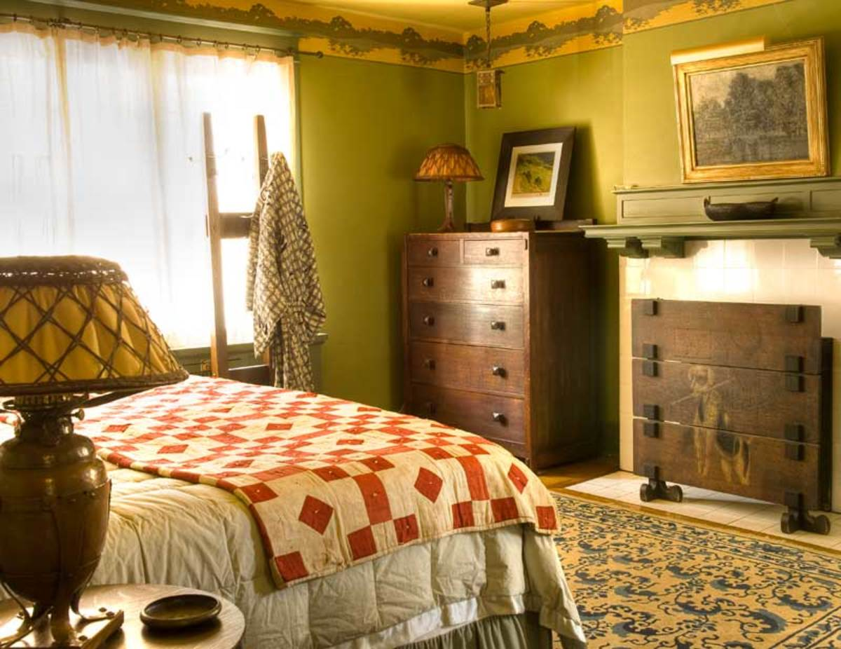 period green walls, Stickley furniture