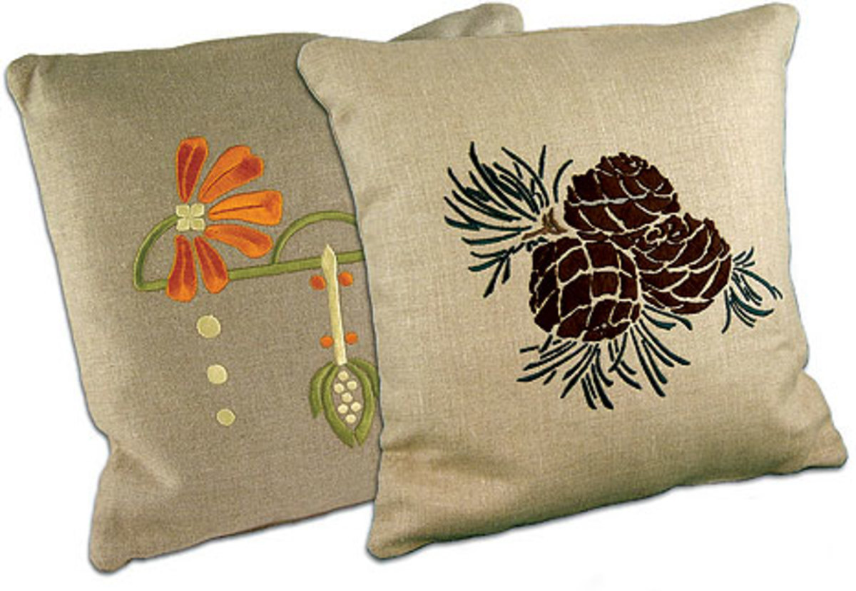 Arts and crafts pillows - Above The Pinecone Is The Quintessential Arts Crafts Motif From Ford Craftsman Studios