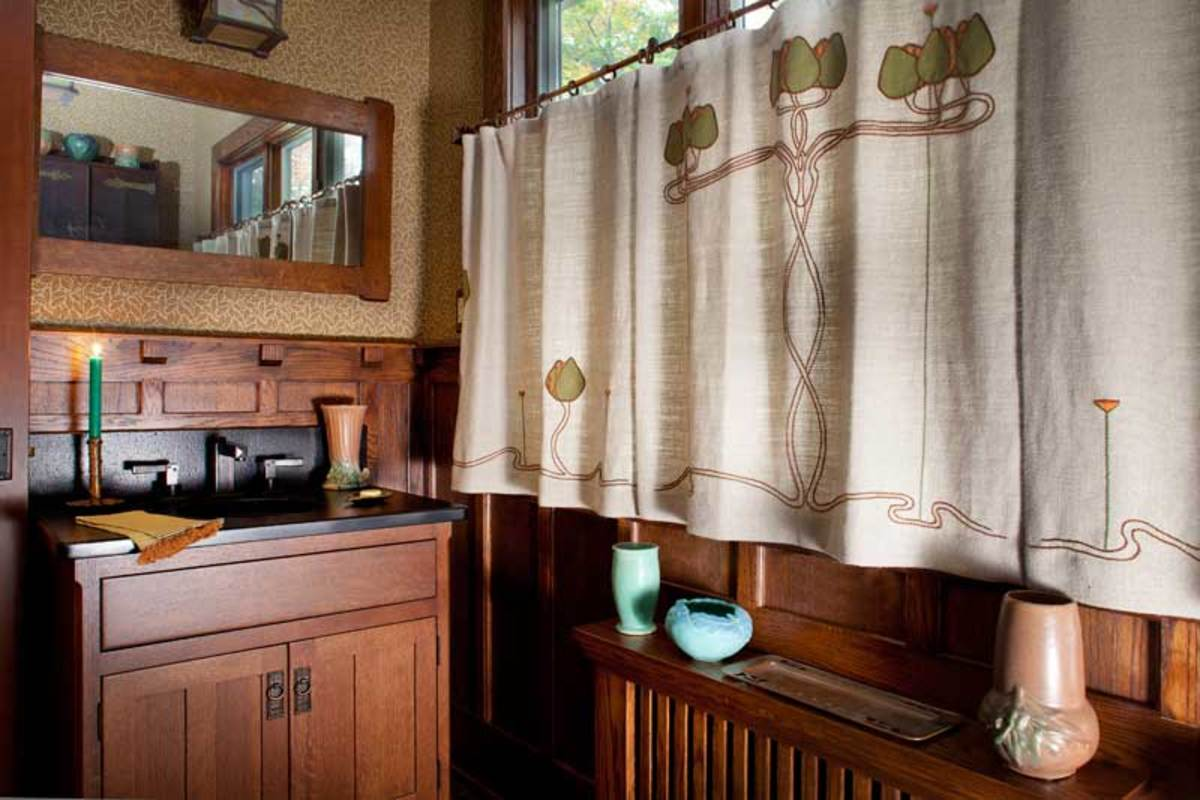 hand-embroidered curtains