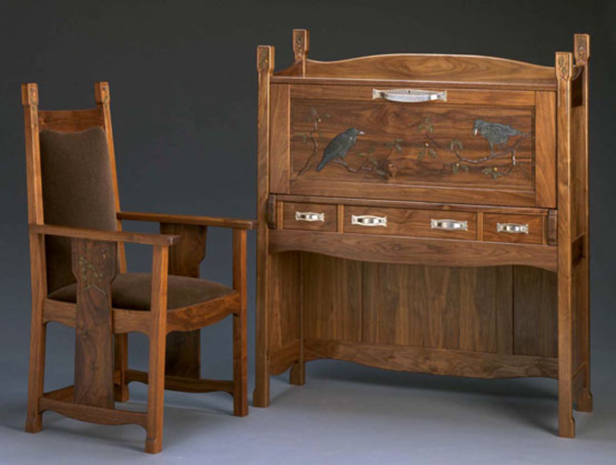Three contemporary furniture makers of the arts crafts for Arts and crafts furniture makers