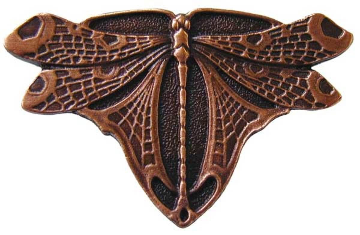 Copper 'Dragonfly' cabinet knob, Notting Hill Decorative Hardware