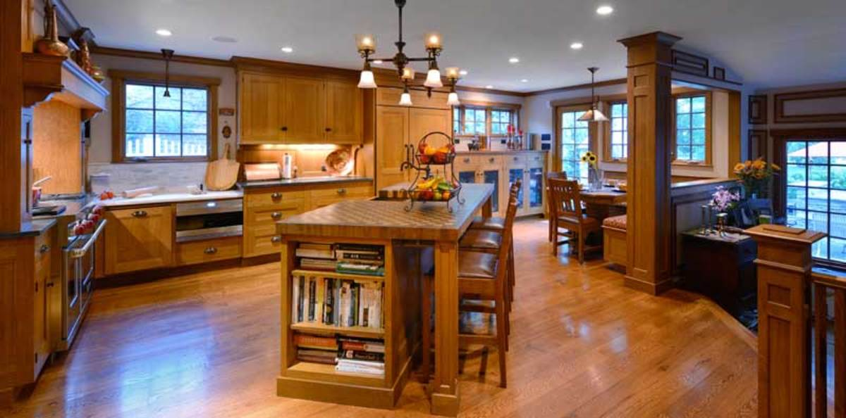 Arts & Crafts kitchen cabinets