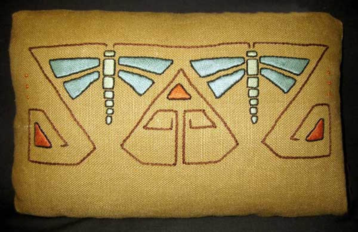 Embroidered Pillow (Contemporary)   Arts & Crafts Textiles   Pinterest