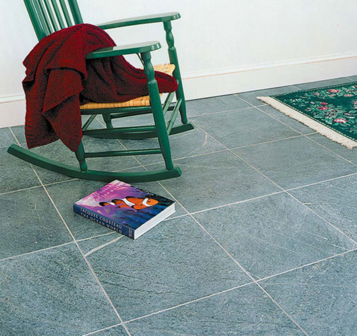Stone tiles are timeless. Courtesy Green Mountain Soapstone.